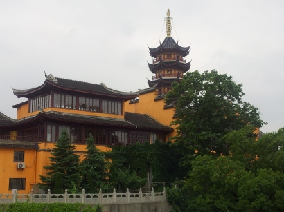 Jiming Temple from the Nanjing City Walls
